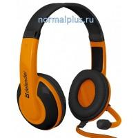 Гарнитура DEFENDER Warhead G-120, черно/оранжевые.с микрофоном