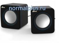 Колонки SP-2010 Black+Blue RITMIX 2*2.5W, USB, AUX.