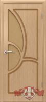 Межкомнатная дверь «Греция» стекло (светлый дуб)