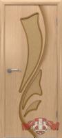 Межкомнатная дверь «Лилия» стекло (светлый дуб)