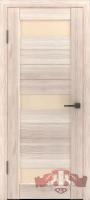 Межкомнатная дверь «Лайн 5» стекло (белёный дуб-капучино)