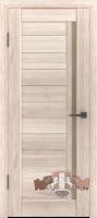 Межкомнатная дверь «Лайн 9» стекло (венге-капучино)