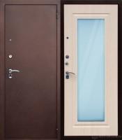 Металлическия входная дверь Сибирь метал-зеркало