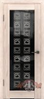 Межкомнатная дверь «Лайн 8» триплекс (венге-капучино-белёный дуб)