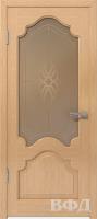 Межкомнатная дверь «Венеция» стекло (светлый дуб)