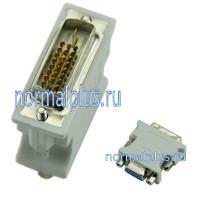 Переходник с  VGA  на 24 + 1 Pin для DVI-D