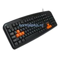 Клавиатура Nakatomi Navigator - Multimedia KN-11U, черная/оранжевая,USB
