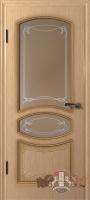 Межкомнатная дверь «Версаль ДР» стекло (светлый дуб-венге-орех)