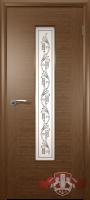 Межкомнатная дверь 700р«Рондо ДО»8ДО2 стекло (орех-венге-дуб светлый)