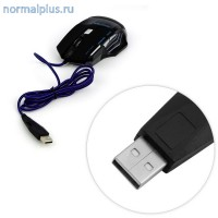 Мышь игровая проводная  5500dpi,USB,7кнопок,меняющаяся подсветка