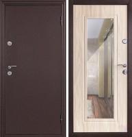 Входная дверь Йошкар 68 правая золотистый дуб,зеркало