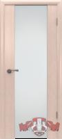 Межкомнатная дверь «Триплекс 2» стекло (орех-дуб белёный)