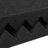 Шумоизоляционная акустическая панель (волна) 30х30 см черная