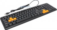 Клавиатура DIALOG KS-020U, черная/оранжевая, USB