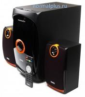 Колонки Dialog Progressive AP-200 2.1 Black 2x15 + 30 Вт, 40-20000 Гц, пульт ДУ, USB, microSD, RCA, MDF,220V