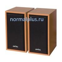 """Колонки PERFEO PF-84-WD """"Cabinet"""" 2.0, USB, мощность 2х3 Вт (RMS),дерево black"""