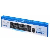 Клавиатура+мышь беспроводная Oklick 210M Black 2.4ГГц