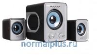 Колонки SmartBuy 2.1 SBA-2600 BUZZ (встроенный MP3 USB+SD) чер-серые