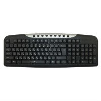 Клавиатура Oklick 370M черный/серебристый USB Multimedia