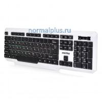 Клавиатура игровая SmartBuy RUSH 333, USB, белая/черная, проводная, подстветка