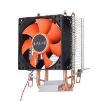 Вентилятор для CPU  LGA 775/1151 AMD S 754/939/940/AM3/FM2,AM4 медные трубки,оранжевый
