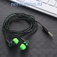 Наушники вакуумные,30Ω,8 - 25000 Гц,123dB,плетённый кабель