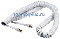 Телефонный шнур витой для трубки  4P4C 7.5m белый