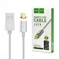 Кабель HOCO Magnetic, USB - USB Type-C U16 Series Silver, 1,2м