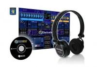 Наушники DJ-TECH DHJ 555 USB DJ HEADPHONES WITH SOUNDCARD со встроенной звуковой картой и программным обеспечением