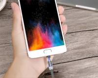 Магнитный кабель , USLION  USB-Micro usb для зарядки и передачи данных