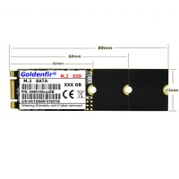 Жесткий диск SSD M.2 128Gb Goldenfir  <M.2> SATA III (R520/350Mb/s)