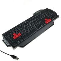 Клавиатура игровая мультимедийная Smartbuy RUSH 201 USB черная (SBK-201GU-K)