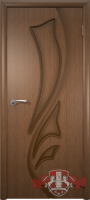 Межкомнатная дверь «Лилия» глухая (светлый дуб)