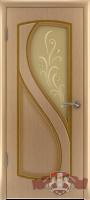 Межкомнатная дверь «Грация» стекло (светлый дуб)