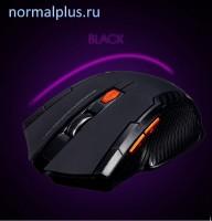 Мышь игровая (беспроводная) 1200dpi .6 кнопок.чёрно-серая 2.4 ГГц МиниUSB
