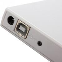 Внешний перезаписывающий привод DVD-R/RW/USB-2.0(белый)