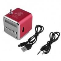 Колонка портативная FM ,mSD, USB,AUX красная